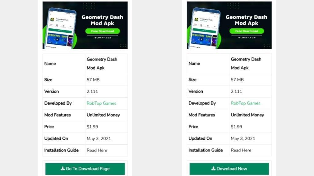Geometry Dash mod apk download