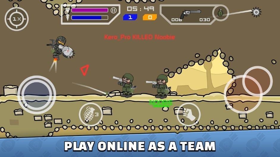 Mini Militia - Doodle Army 2 mod