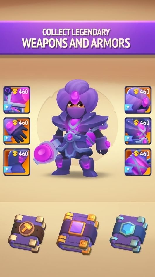 Nonstop Knight 2 weapons and armors